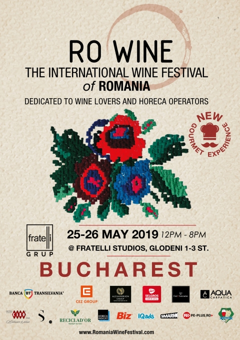 A patra ediție a RO-WINE I THE INTERNATIONAL WINE FESTIVAL OF ROMANIA va avea loc în 25 și 26 mai