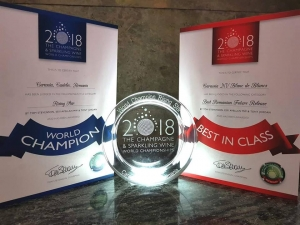 Crama CARASTELEC, triplu premiată la The Champagne and Sparkling Wine World Championship 2018